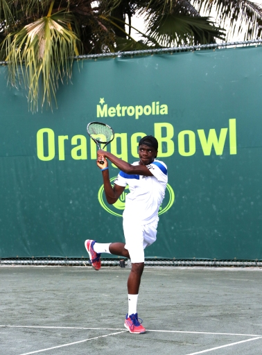 Francis Tiafoe of JTCC eyes a win in the Orange Bowl Final today at 10 AM
